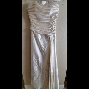 Jessica McClintock Ivory Satin Wedding Dress
